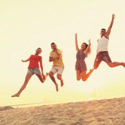 vacances groupe à la mer