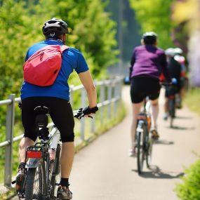 cyclistes en groupe